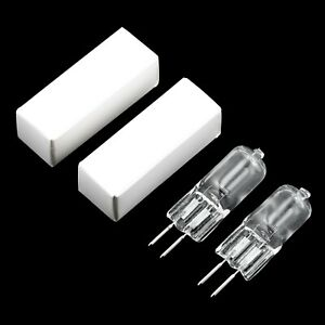 2x 100W Clear GY6.35 12V Halogen Bi-Pin Downlight Dimmable Light Globe Lamp Pins