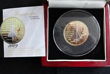 2009 SILVER PROOF GOLD PLATED PIEDFORT TDC £5 COIN BOX + COA CONCORDE 1/499