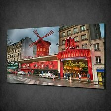 PARIS FRANCE MOULIN ROUGE CANVAS WALL ART PRINT PICTURE READY TO HANG