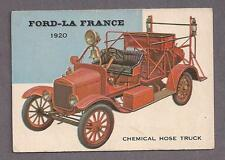 1953 Topps World on Wheels #117 Ford La-France Hose Truck 1920