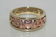 Superb Clogau Welsh 9ct Rose & Yellow Gold Love Vine Ring.UK N 1/2 US 7