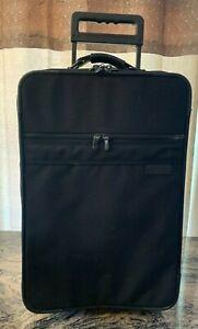 "BRIGGS & RILEY 21"" Black Wheeled Rolling Carry-all Garment Luggage VGUC"
