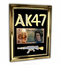 Stunning 18K Solid Gold AK47 Polymer £5 Note LIMITED EDITION Collection