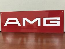 Mercedes Benz AMG premerger Classic racing garage sign baked 18x6