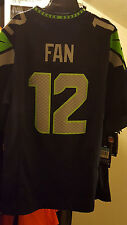Nike Seattle Seahawks Limited Fan #12 Jersey Sz M 100 Auth 12th Man 468938 421