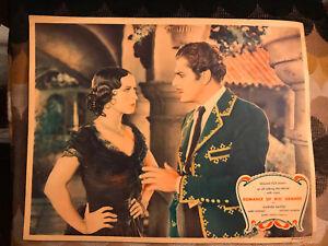 Romance Of The Rio Grande 1929 Fox western lobby card Warner Baxter Mona Maris