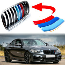 Fits 2 Series F22 F23 8 BARS 13-17 Kidney Grille Grill M Color Cover Stripe Clip