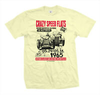 T-Shirt Carzy Speed Flats | Hot Rod Flathead V8 Rockabilly Race VINTAGE white