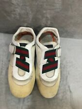 GUCCI 190356 Web Suede Low-Top Beige Sneakers Size 9.5