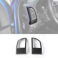 Carbon Fiber Front Air Vent Outlet Frame Cover Trim Sticker For Ford F150 2015+