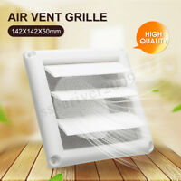 5.6'' White Plastic Air Vent Grille with Adjustable Ventilation Cover Wall Grid