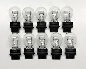 10 Pack 3157 Clear White Tail Signal Brake Light Bulb Lamp - FAST USA Shipping