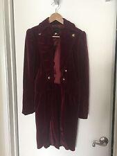 Rare vtg 80s 90s In Living Color Show Original Wardrobe Long  Pink Velvet Coat-S