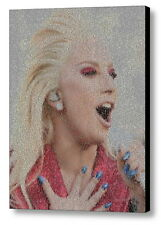 Lady Gaga Super Bowl National Anthem Lyrics Mosaic Framed Print Limited Edition