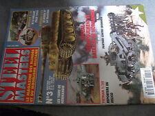 µ? revue steel Masters n°3 Tigre de Normandie Sherman Crab Panther vs Cromwell