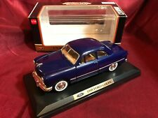 Motormax 1949 Ford Coupe 1:24 diecast Dark Blue w/Orig Box