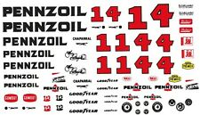 #4 Johnny Rutherford Pennzoil Chaparral 1/64th HO Scale Slot Car Decals