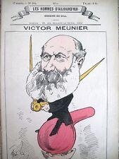 MEUNIER JOURNALISTE SCIENTIFIQUE CARICATURE GILL LES OMMES D'AUJOURD'HUI 1878