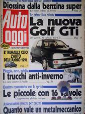 Auto Oggi 209 1990 Nuova Golf GTI. Piccole 16 valvole. Clio è la migliore [Q106]