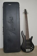 Ibanez Gio SoundGear GSR206 Fat Neck 6 String Bass Guitar & Case Sounds Awesome