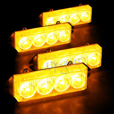 16 LED Amber & Yellow Emergency Hazard Warning Grille Flash Strobe Light Bar 2
