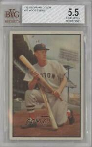 1953 Bowman Color Hoot Evers #25 BVG 5.5