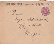 PEGAU, Briefumschlag 1905, Curt Graichen Ingenieur