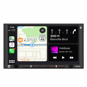 "DUAL DCPA701 2 Din 7"" Media Player CarPlay Android Auto Bluetooth Camera Input"
