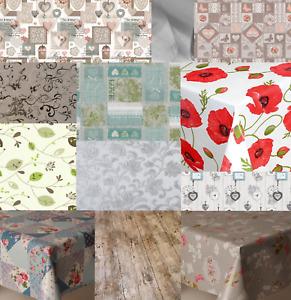 Pvc Plastic Wipe Oil Vinyl Table Cloth Plain Floral Printed - Multiple Designs
