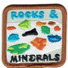 Girl Boy Cub ROCKS & MINERALS Fun Patches Crests Badges SCOUT GUIDE geology trip