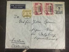 1934 Sitoebondo Netherlands Indies Cover to salzburg austria 2 Cents Overprinted