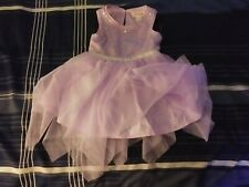Cat And Jack Baby Girl Rainbow Sequin Tulle Lavendar Dress 12 Months 2-Piece