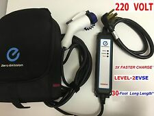 EV Charger Nissan Leaf LEVEL 2 220VOLT 3xCharge using DryerPlug 30' total length