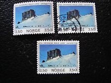 NORVEGE - timbre yvert et tellier n° 875 x3 obl (A30) stamp norway