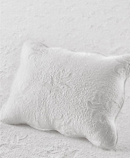 Martha Stewart Stenciled Leaves 100% Cotton Standard Pillow Sham White $60