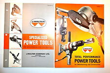 WALTER POWER TOOLS FOR METALWORKING & CONSTRUCTION CATALOGS P68 & P-723 #RR421