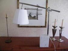 NEU s'luce Karon Tischleuchte Marmor-Fuß Stoffschirm. Designklassiker aus den 60