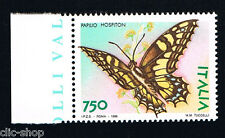 ITALIA 1 FRANCOBOLLO ANIMALI FARFALLE PAPILIO HOSPITON 750 LIRE 1996 nuovo**