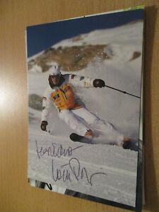 Willy Bogner Ski Alpin Olympia original signierte Autogrammkarte