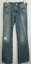Lucky Brand Jeans Women's Size 10/30 Flare Distressed Patch Button Fly blue