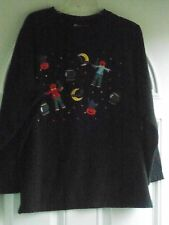 PLUS SIZE SPELLBINDING HALLOWEEN THEME TOP BY HOLIDAY EDITIONS:  SIZE 1X