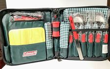 Coleman 16 Piece Picnic Set Tote New For 2 People No Box