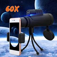 NEW 40X60 Zoom Optical HD Phone Lens Monocular Telescope+Tripod+Clip For iPhone