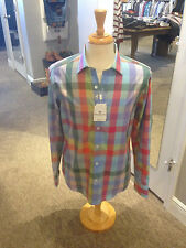 Bugatchi Shaped Fit Shirt NWT - Men's M- Candy Colored Checks