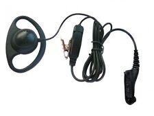 Motorola DP3400 D-shape earpiece and microphone