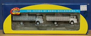 Athearn 1:87 HO Ford C Series COE Stakebed Truck Rio Grande D&RGW 2 Pack NIB RTR