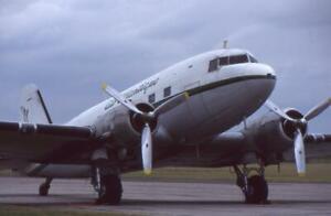 35mm Aircraft Slide Air Atlantique Douglas C-47 Skytrain Waddington 1996