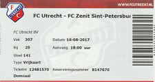 FC Utrecht-Zenit ST Petersburg Europa League 16-08-2017