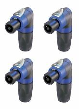 (4 Pack)  Neutrik NL4FRX Locking 4-pole High-Load Speakon Right Angle Cable End.