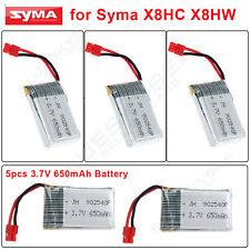 5x 3.7V 650mAh Lipo Battery Spare Parts for Syma X5HC/X5HW RC Drone Quadcopter